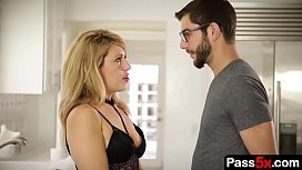 Horny MILF wants to be called mom by her new step son