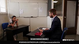 PORNO ACADEMIE - Ukrainian school girl Lola Bulgari has wild anal MMF threesome