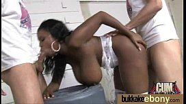 Ebony gets fucked in...