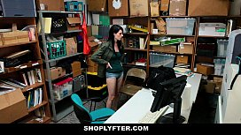 Shoplyfter - Skinny Teen (Alex Harper) Blackmailed and Stripped Down