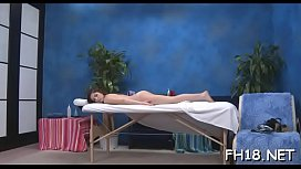 Cute eighteen year old gets screwed hard by her massage therapist