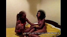 Beautiful African babe eats hot black friends pussy