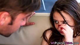 Teen gets rough facial...