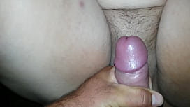 Cumming on wife'_s hairy pussy