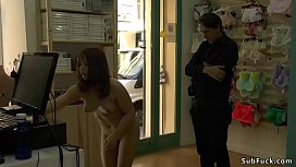Asian slave disgraced in...