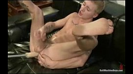 Skater boy Prince gets fucked by huge fucking machine and made to cum