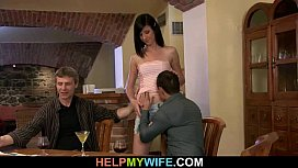 Young wife rides stranger'_s cock