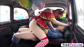 image - Sweet babe in costume likes drivers cock