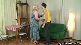 Horny oldie seduces son...