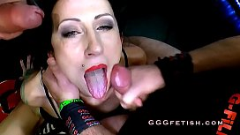German slut receiving two...