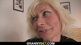 Pretty blonde mom gets...