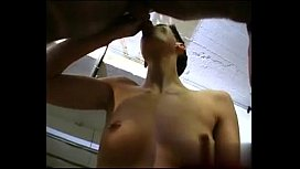 Short-hair petit tomboy with nice tits gets fucked on break xnxx image