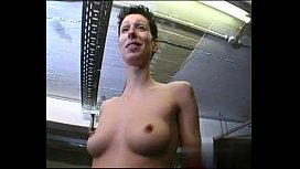 Short-hair petit tomboy with nice tits gets fucked on break