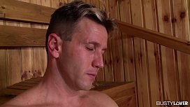Busty Blonde Angel Wicky DP'ed To The XXXtreme In Sauna