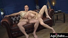 Mature woman Franny spread her legs to   take Rob'_s meaty cock inside her dripping   cunt