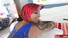 Emo MILF with big boobs Anna Bell Peaks loves anal sex