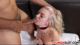 Blonde babe Molly Mae fucked in full body restraints