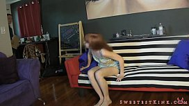 Lizzy Lamb Punishes Salesman...