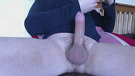 My solo 181 (Lubed hard uncut hairy cock fucking pink lady)