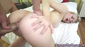 Teen gets doggystyle fuck...