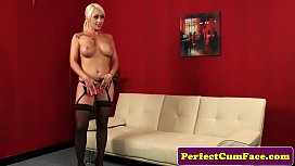 Bigtitted british babe doggystyled...