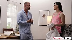 Hot shemale pounded with...