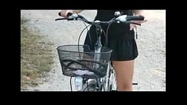 Public nudity bicycle riding...