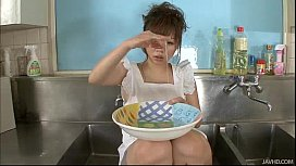 Aoi in the kitchen...