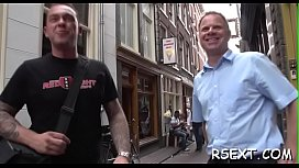 Horny old dude takes a trip in amsterdam'_s redlight district