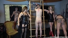 Who Will Stand the Pain? - Mistress Athena and Mistress Inka Test Slaves'_ Limits