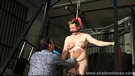 Tit whipping and hard...