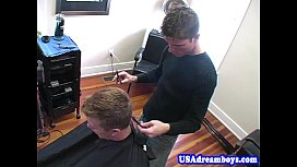 Gay hairdresser fucking his...