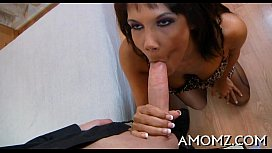 Red sexy mama craves for orgasm