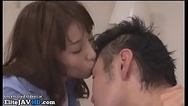 Japanese beauty enjoys passionate sex