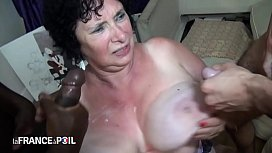 Amateur french granny fuck...