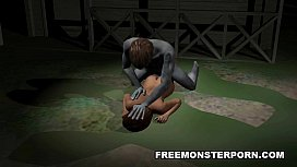 Busty 3D cartoon babe...
