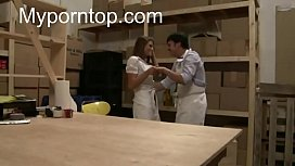 She gets fucked by her colleague at work