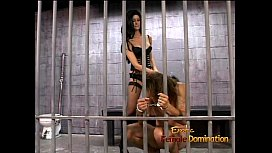 Hot raven-haired domina...