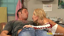 Amazing Nikki Benz enjoys...
