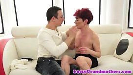 Mature redhead pussyfucked passionately