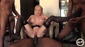 Mature MILF creampied by...