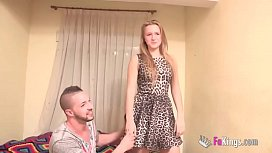 Blonde teen wants to be fucked right in the ass
