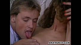 Amateur threesome action with...