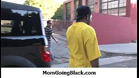 Milf opens her legs for a black cock 6