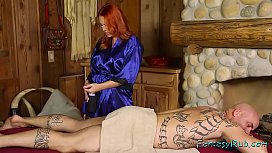 Hot redhead loves giving happy endings