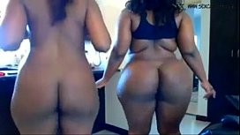 Two ebony bbw masturbates...