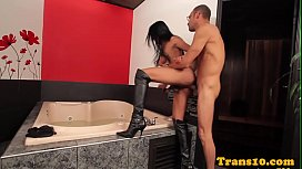 Bigtits latina tgirl with...