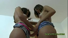 Two hot girlfriends fucked...