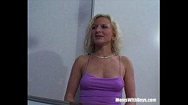 MILF Blonde On A Dinner Fuck Date
