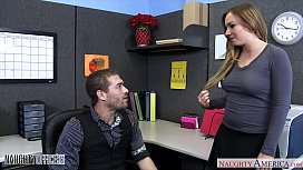Busty office babe Tiff...